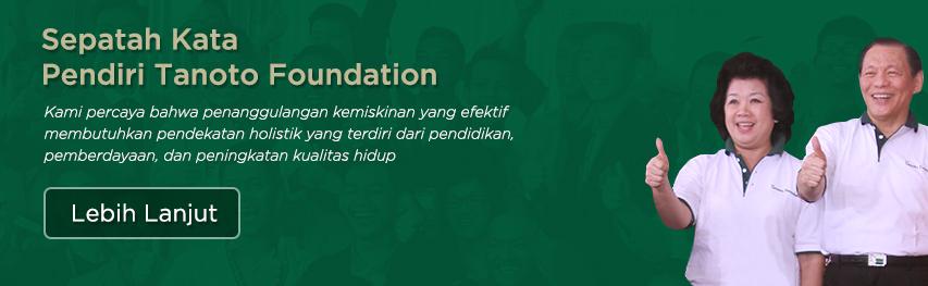 Pendiri Tanoto Foundation Sukanto Tanoto dan Ibu Tinah Bingei Tanoto